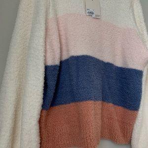 LC Lauren Conrad Sweaters - Lauren Conrad balloon sleeve fuzzy sweater